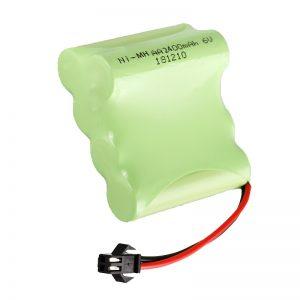 แบตเตอรี่ชาร์จ NiMH AA2400 6V เครื่องมือของเล่นไฟฟ้าแบบชาร์จไฟได้แบตเตอรี่แพ็ค