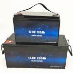 Deep Cycle LiFePO4 แบตเตอรี่พลังงานแสงอาทิตย์ 12V 100Ah / 200Ah แบตเตอรี่ลิเธียมไอออนของรถกอล์ฟ