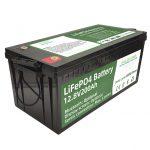 ขายร้อน 2.56KWh lifepo4 batteri 12v 200Ah 6000 รอบแบตเตอรี่ rv