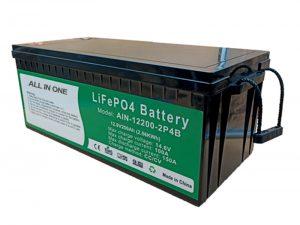 ALL IN ONE 2.56KWh 2000 รอบแบตเตอรี่ 12v lifepo4 แพ็คลิเธียม 200ah สำหรับรถยนต์ไฟฟ้า