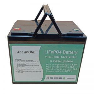 ชาร์จใหม่ได้ 896Wh แบตเตอรี่ lifepo4 12V 70Ah สำหรับ vechile ไฟฟ้า