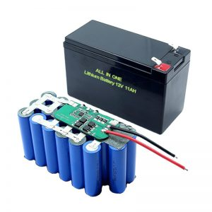 ALL IN ONE 18650 3S5P 12Volt Lithium Battery 11Ah Rechargeable Lithium Battery Pack