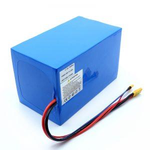 แบตเตอรี่ลิเธียม 18650 48V 51.2AH 24v 30V 60V 15ah 20Ah 50Ah แบตเตอรี่ลิเธียมไอออน 18650 48V ชุดแบตเตอรี่ลิเธียมไอออนสำหรับสกู๊ตเตอร์ไฟฟ้า