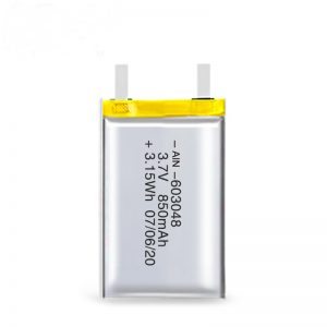 แบตเตอรี่แบบชาร์จ LiPO 603048 3.7V 850mAh / 3.7V 1700mAH / 7.4V 850mAH