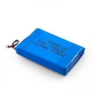 แบตเตอรี่แบบชาร์จ LiPO 753048 3.7V 1100mAh / 7.4V 1100mAH / 3.7V 2200mAH