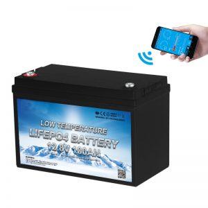 แบตเตอรี่ LiFePO4 อุณหภูมิต่ำ 12V 100AH