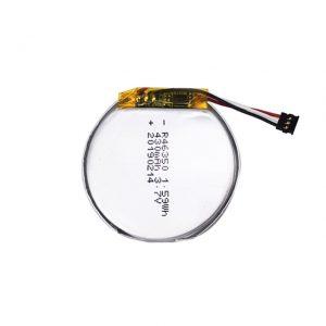 แบตเตอรี่ที่กำหนดเอง LiPO 46350 3.7V 350mAH แบตเตอรี่นาฬิกาอัจฉริยะ 46350 แบตเตอรี่ลิเธียมโพลิเมอร์กลมแบนขนาดเล็กสำหรับของเล่น